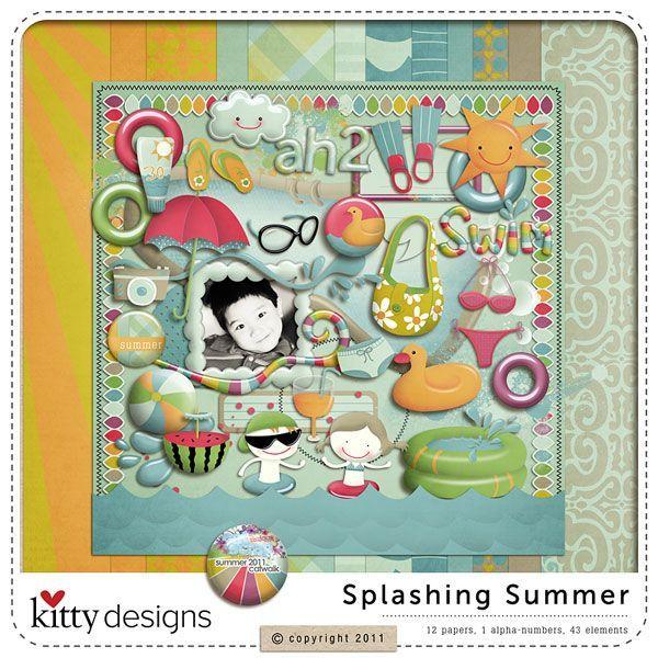 Splashing summer by Kitty Design at Oscraps.com