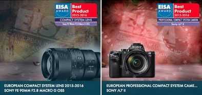 Sony Won Eisa Awards 2015 2016 For Sony A7 Ii Professional Compact System Camera Cyber Shot Dsc Hx90 V Travel Compact Camera Fe 90mm F2 8 Macro G Oss Compact System Lens And Xperia Z3 Multimedia Smartphone