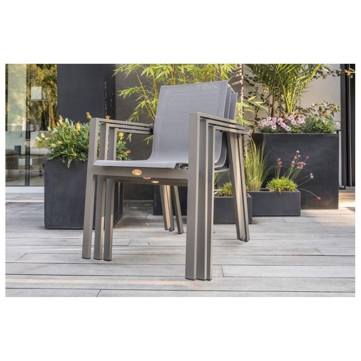 Salon De Jardin Aluminium 6 Fauteuils Zahara - Taille ...