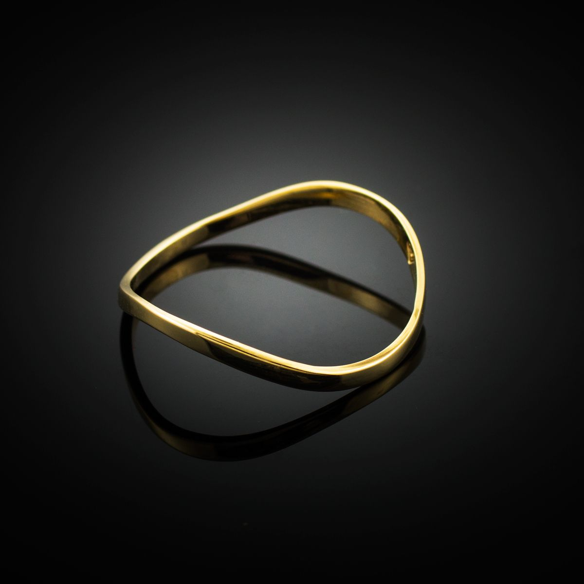 Gold Wavy Thumb Ring Thumb Rings Gold Thumb Rings Gold Rings