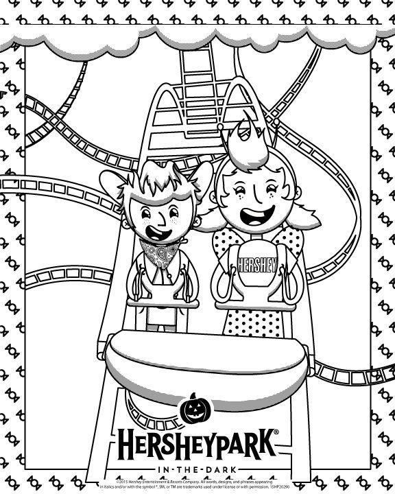 Hersheypark In The Dark Coloring Page Hersheypa Birthday