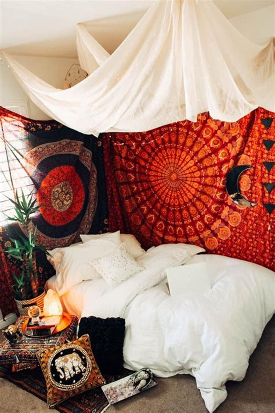 43 Awesome Bohemian Style Bedroom Design And Decorating Ideas Bohemian Bedroom Design