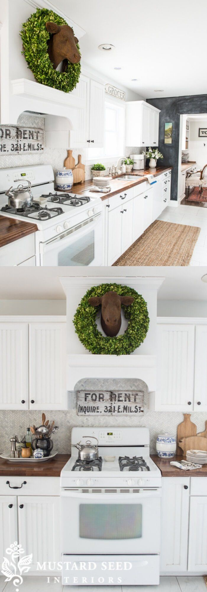23+ Inspiring Farmhouse Kitchen Design & Decor Ideas For