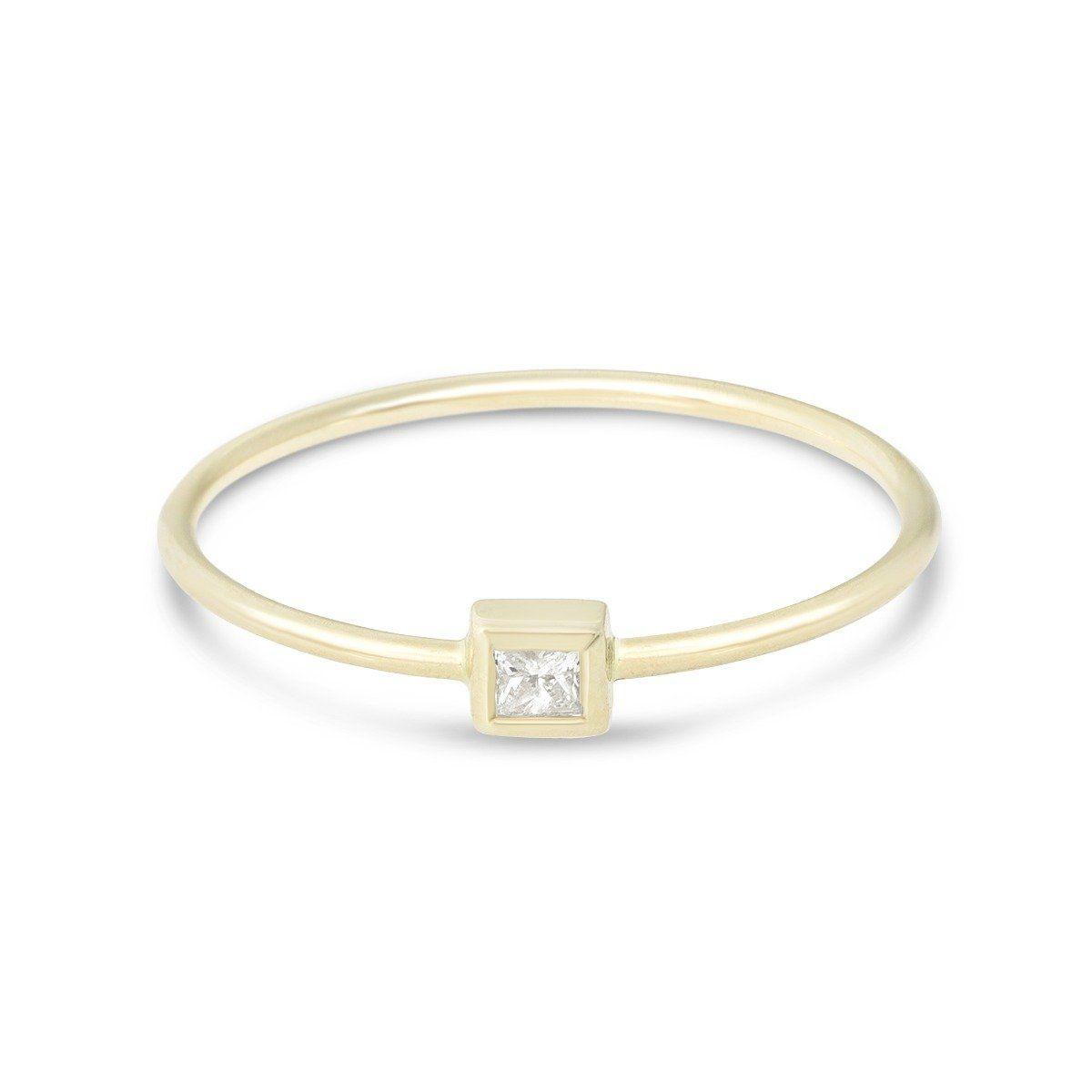 c5e6b91dd23 TIny Princess Diamond Ring - STONE AND STRAND