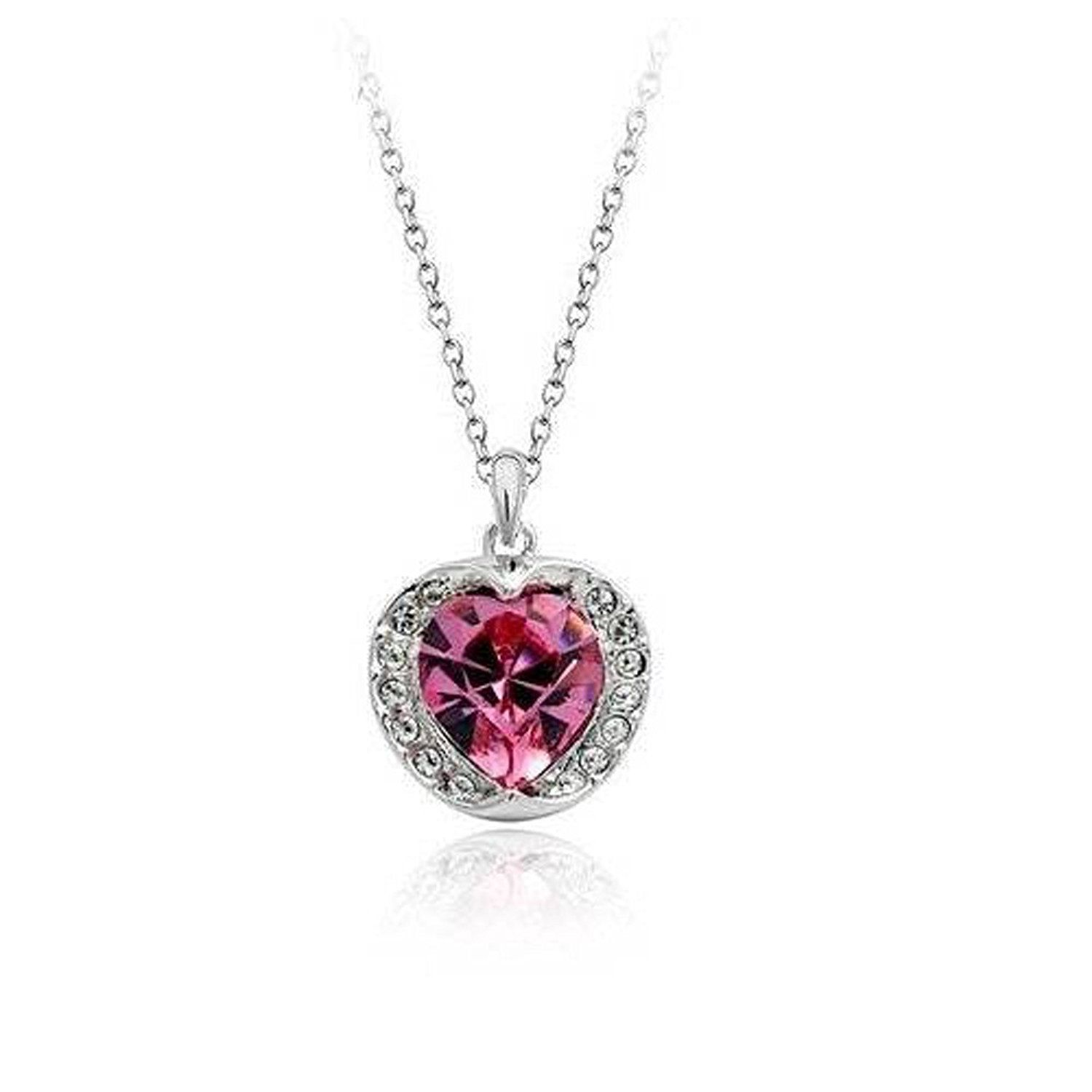 Colorful Crystals from Swarovski Set Pendant Necklace 18