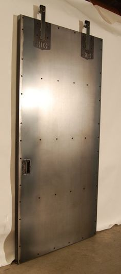 Mid century metal sliding closet door google search for Metal barn doors