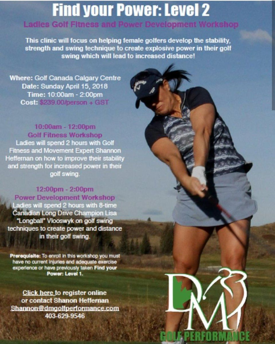Lisa Longball clinic for women April 15 Golf exercises