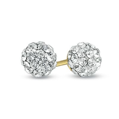 Zales Childs 3.0mm Cultured Freshwater Pearl and Crystal Frame Stud Earrings in 14K Gold ylLiZFZL