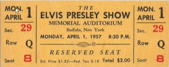 Elvis Presley Live At Memorial Auditorium Buffalo Ny April 1 1957 Elvis Presley Elvis Presley Live Elvis