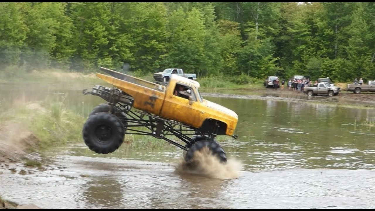 True Bogger Mega Truck Jumping At Wheels A Churnin North Augusta Mudbog Trucks Mud Trucks North Augusta