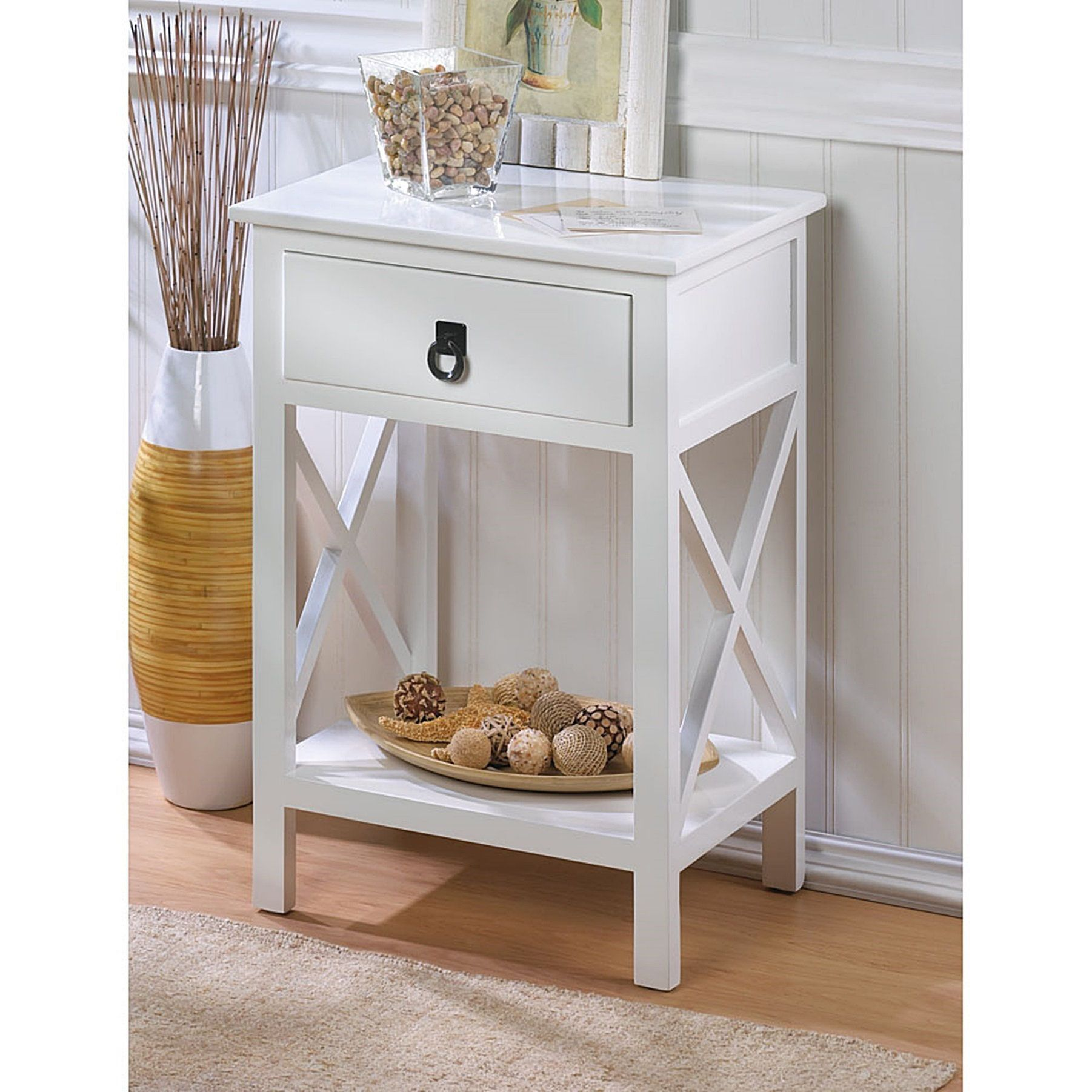 Littleton Classic Accent Table, White