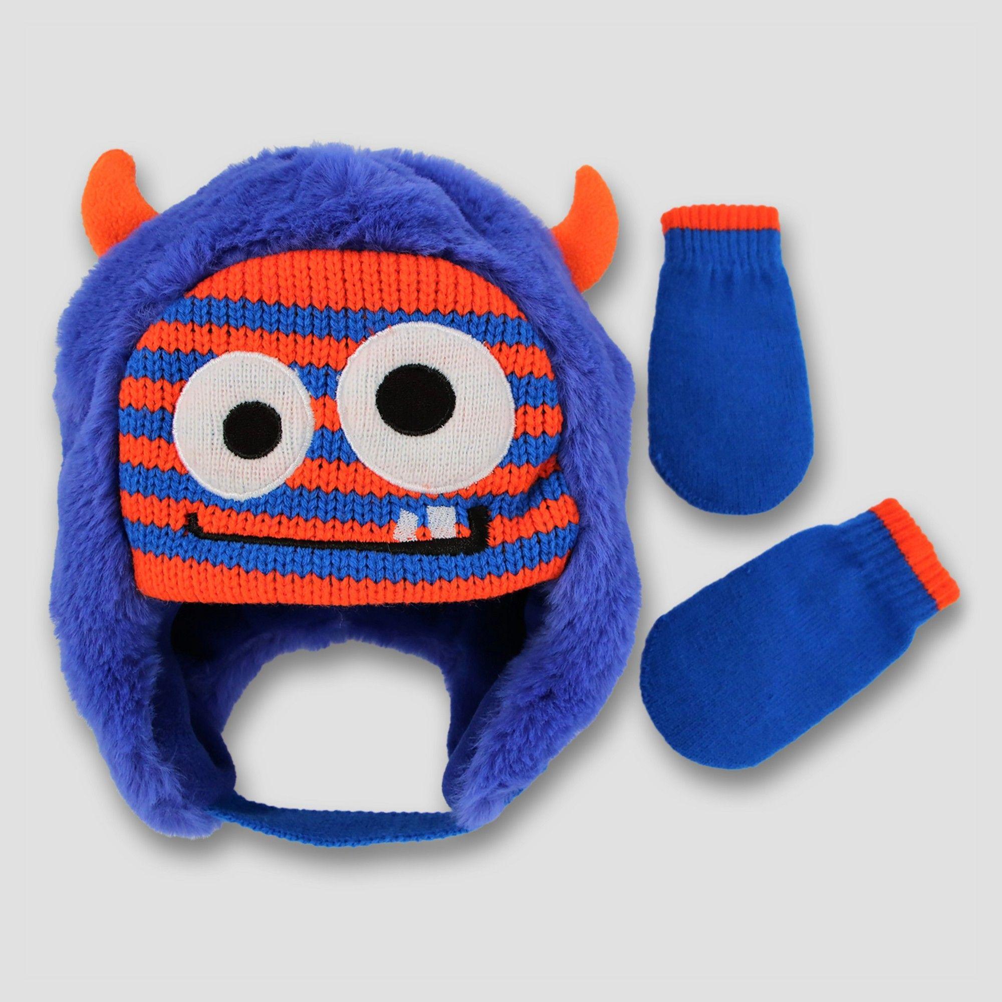 4f14dcbd9ba Toddler Fuzzy Scandi with 3D Horns and Mitten Set Cat   Jack - Stripe  Monster