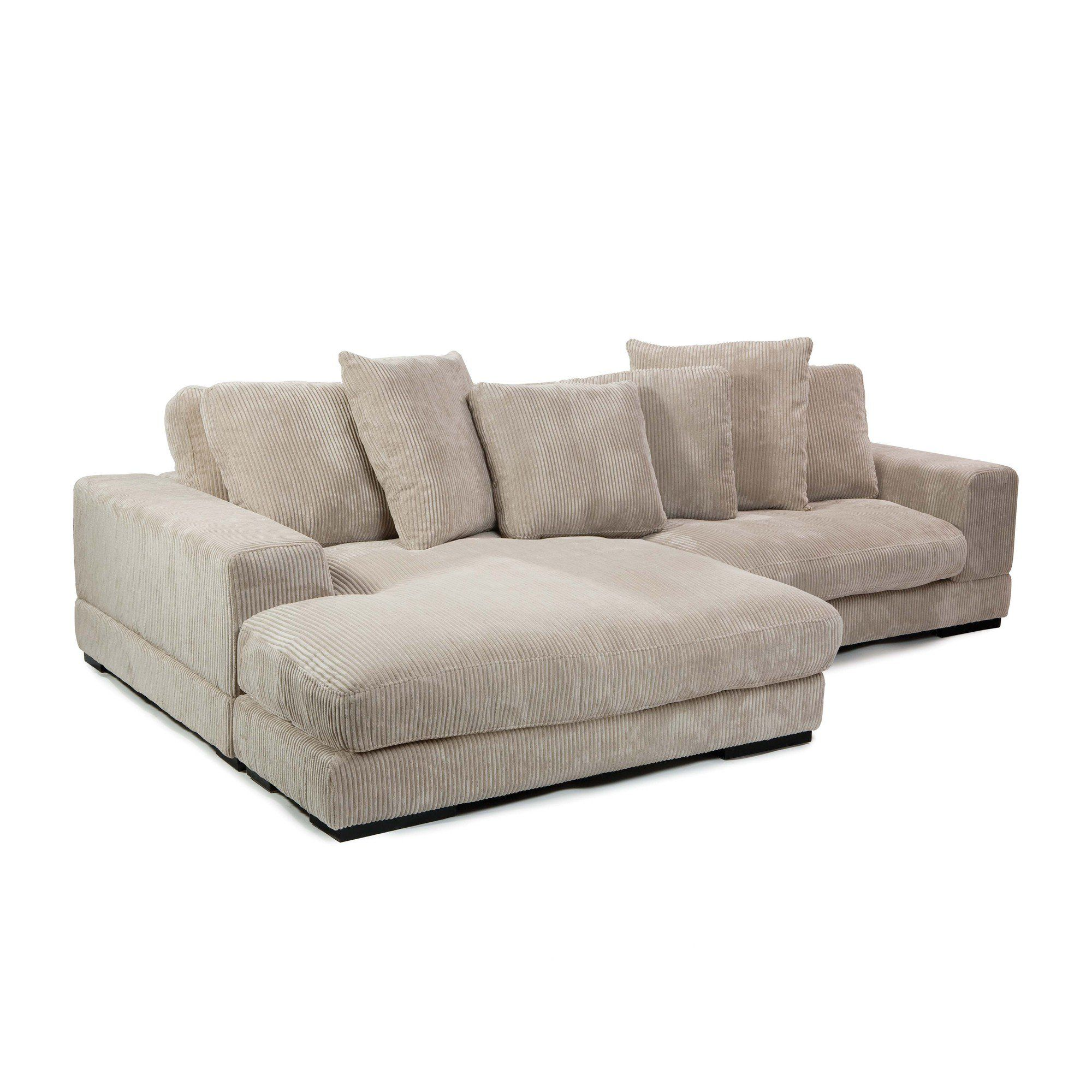 Moe's Home Collection Plunge Reversible Corduroy Sectional