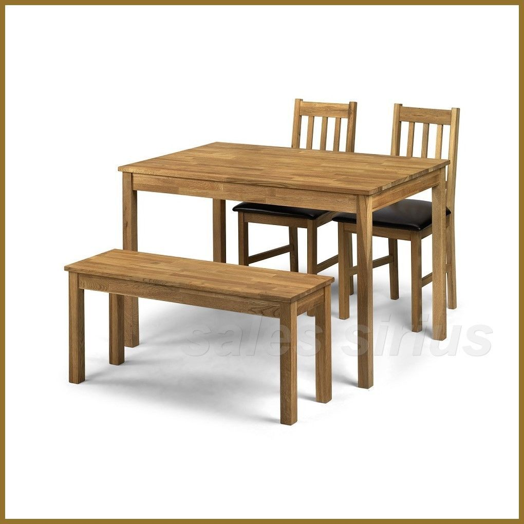 Oak Kitchen Bench Small Wooden Dinner Wood 2 Seater Dining Room