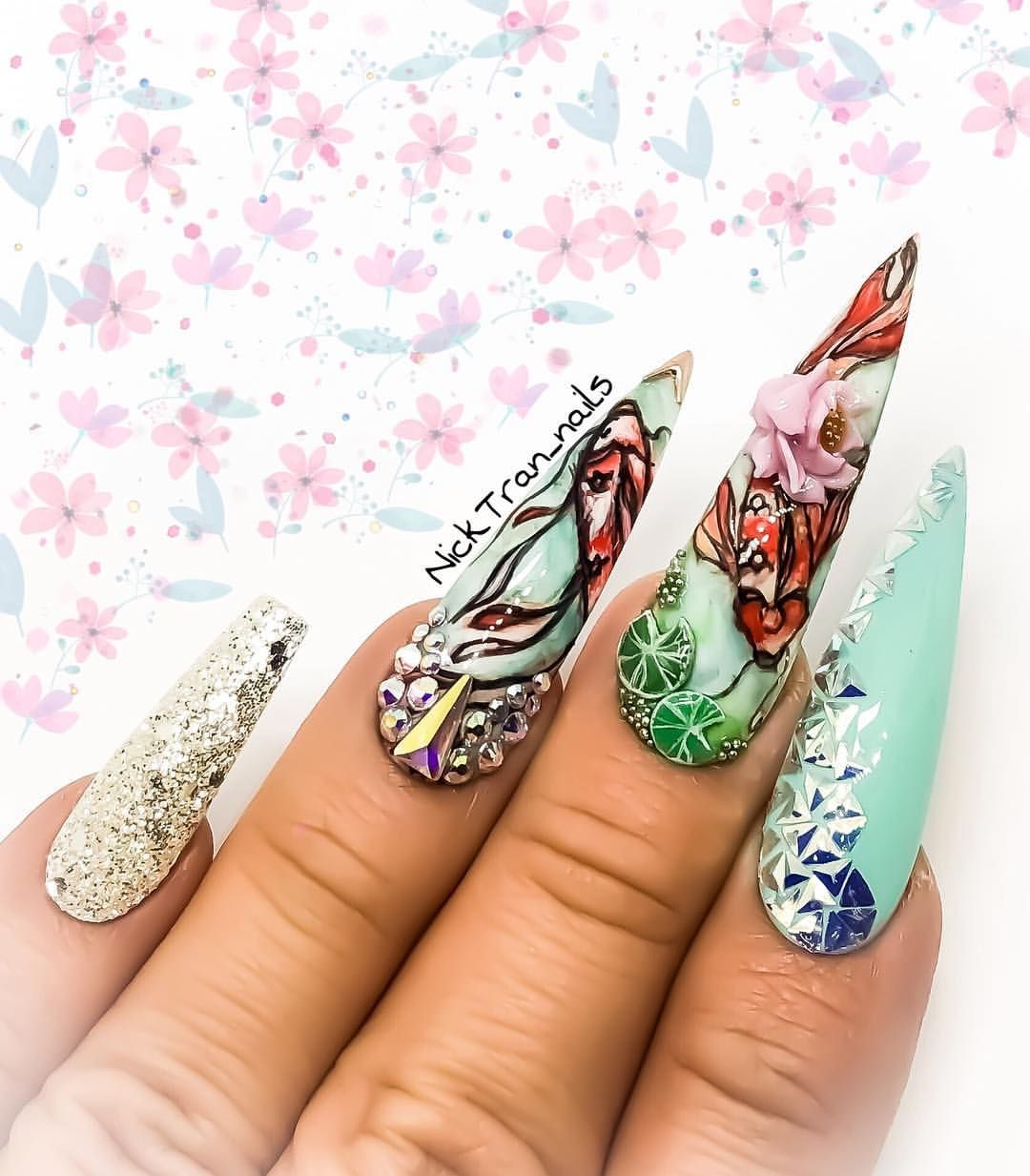 Japanese Koi Fish Art Nailjunkie Naildesigns Nailsonfleek