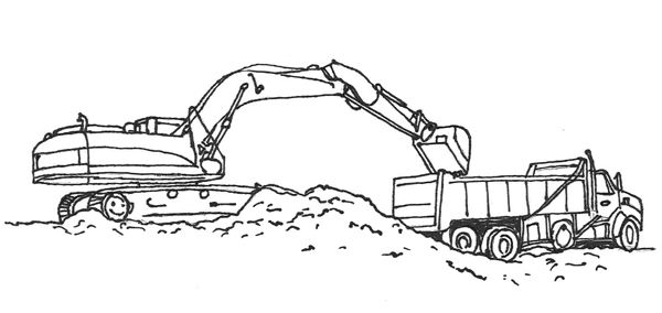 Coloring Page Construction 08 Truck Coloring Pages