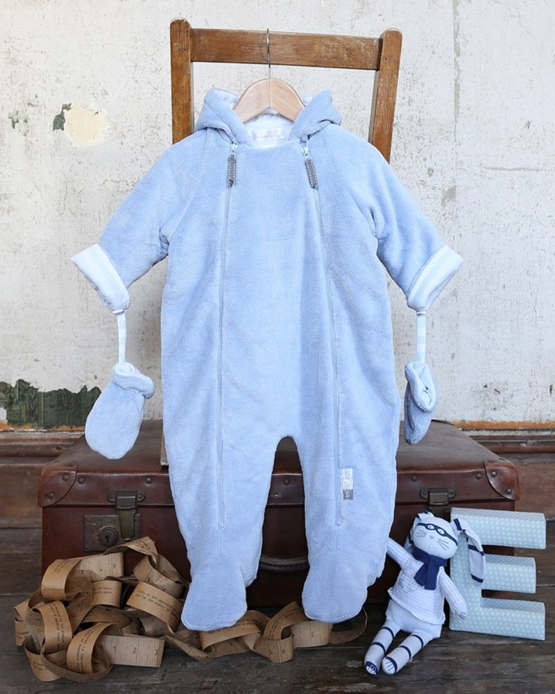 9672391ef Blue Fur Baby Boy Snowsuit - Baby Pram Suits   Snow suits - View by ...