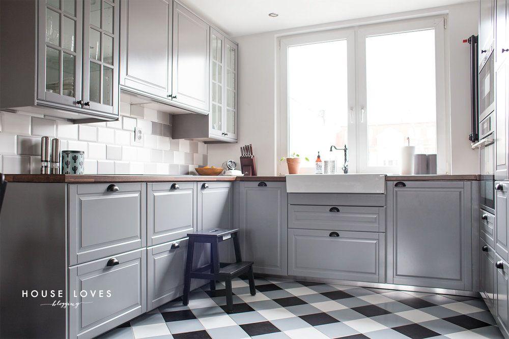Projekt Kuchni Z Szarymi Frontami Ikea Bodbyn Kitchen
