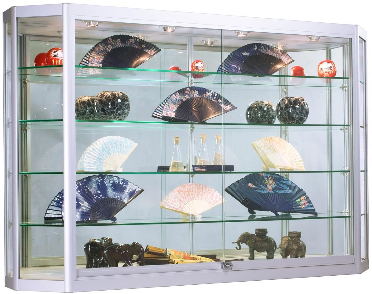 Mount A Wall Showcase Cabinet With Led Lights In Your Store To