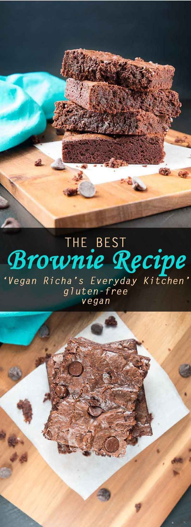 Vegan Brownie Recipe From Vegan Richa S Everyday Kitchen Review Giveaway Vegetarian Gastronomy Recipe Brownie Recipes Vegan Sweets Treats Vegan Brownies Recipe
