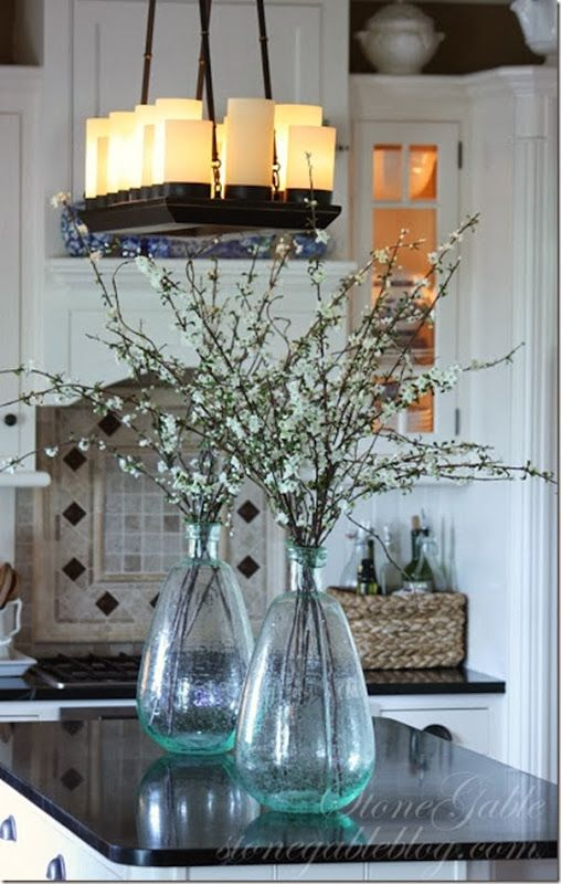 How To Decorate With Spring Flowers And Plants Dining Room Table Centerpieces Kitchen Island Centerpiece Dining Room Centerpiece