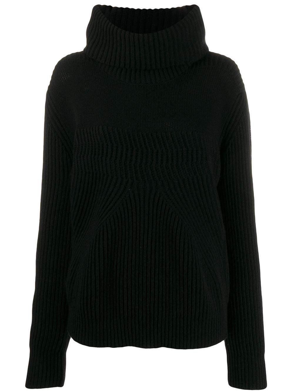Pinko roll-neck chunky knit jumper - Black
