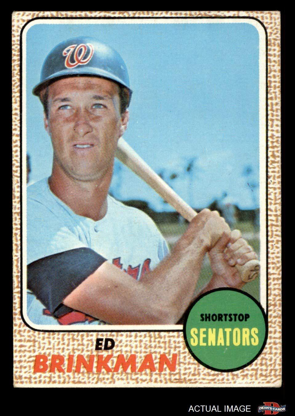 1968 topps 49 mb ed brinkman washington senators