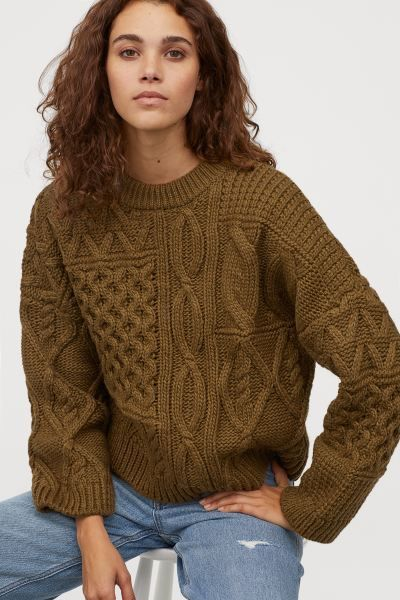 Photo of Cable-knit Sweater