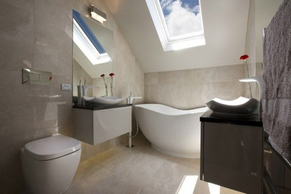 Travertino Tiled bathroom at Karaka Harbourside Estate, Auckland  | Heritage Tiles Travertino Tile Collection  #bathroom #bathroom_tiles #tiles #interior_design #design