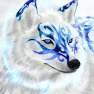 Anime White Wolf With Blue Eyes Google Search Wolf Spirit Animal Anime Wolf Wolf Painting