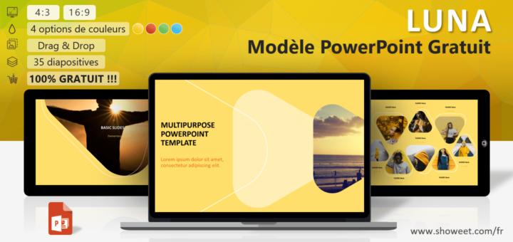 Luna Modèle Moderne Polyvalent Pour Powerpoint Pédagogie