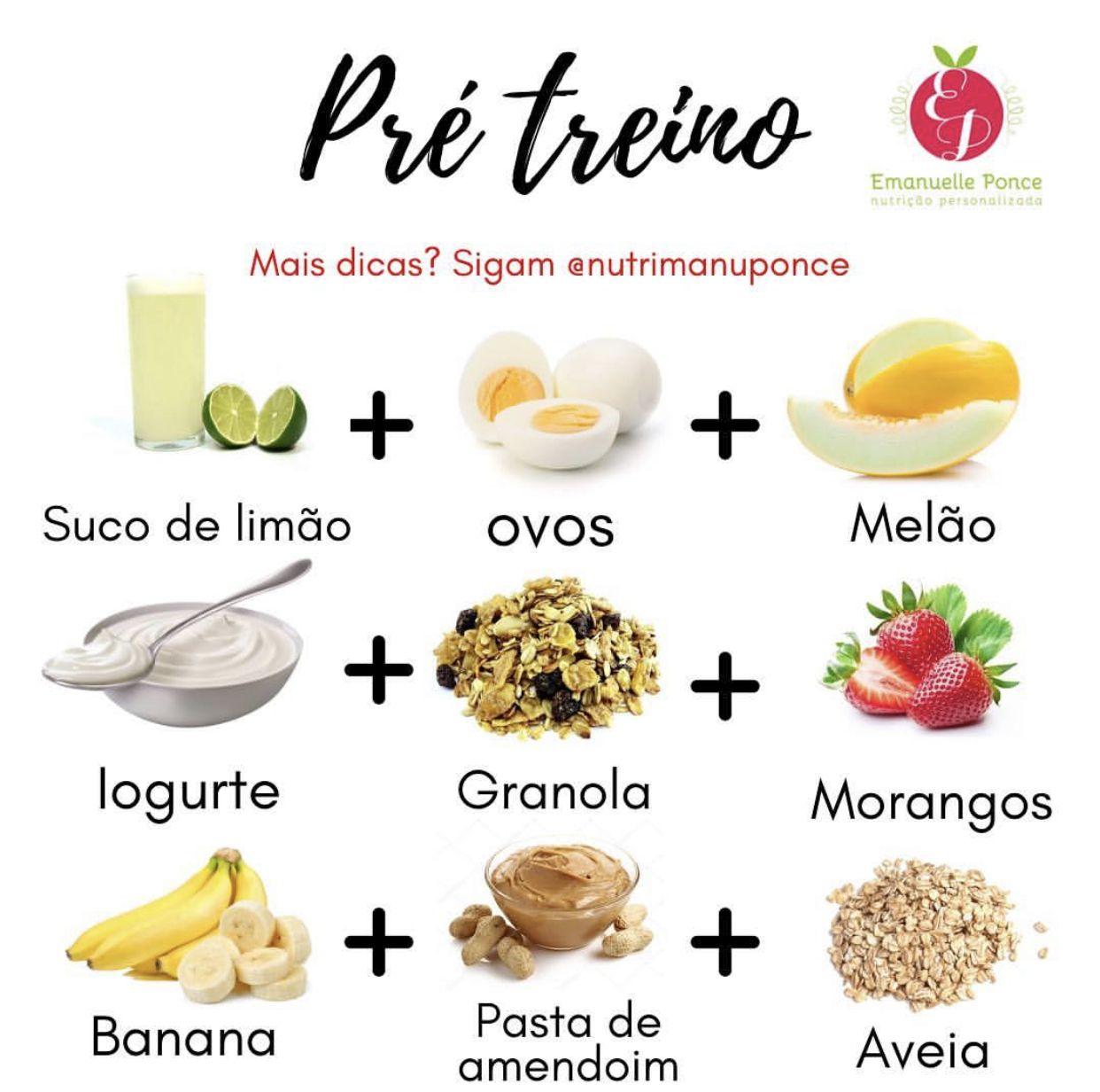 Opcoes De Alimentos Para Pre Treino Emagrecer