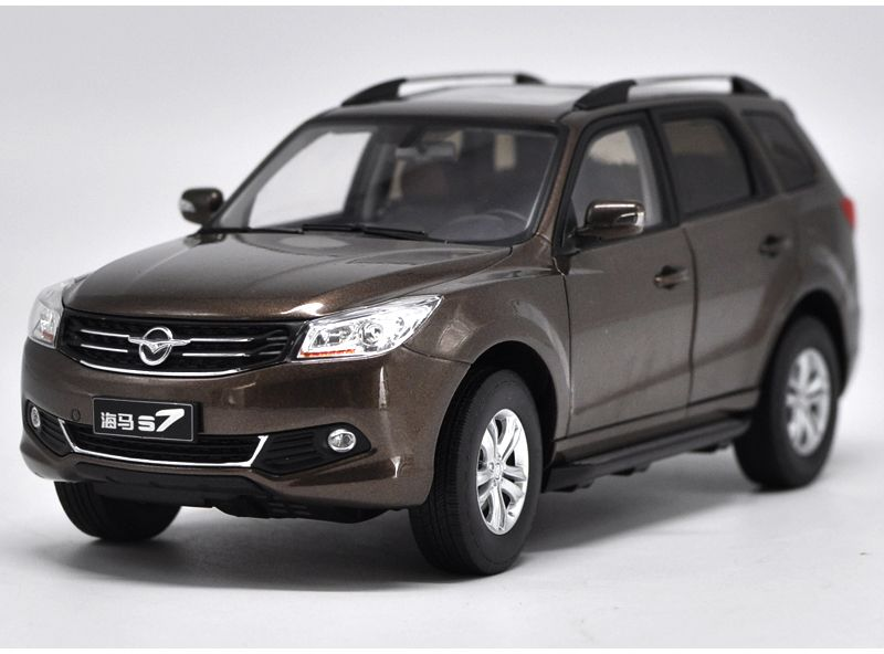 Brown 1 18 Haima S7 Suv Diecast Model Car Hainan Mazda Mini Model