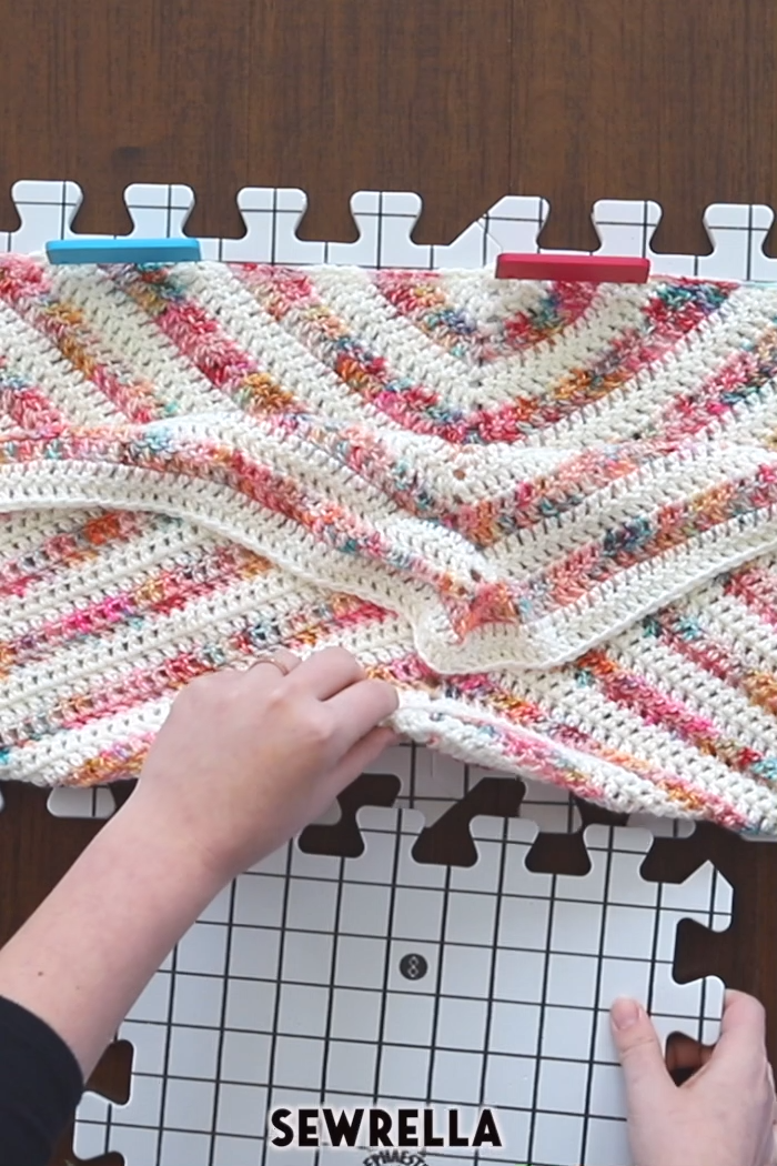 Photo of Wet blocking crochet projects