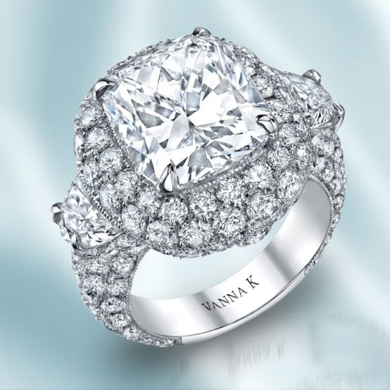 f30682c1e2b38 ♡♡♡ This fancy shape diamond ring by Vanna K! Style No ...