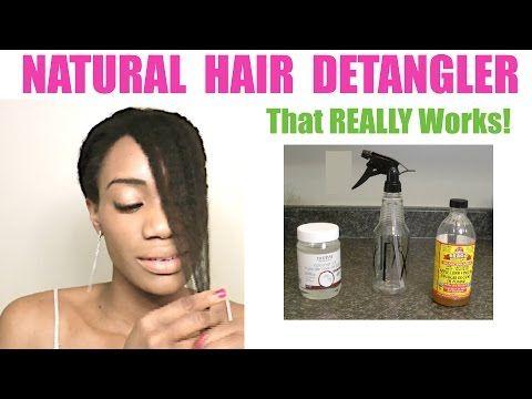 Youtube Hair Detangler Diy Hair Detangler Homemade Hair Products