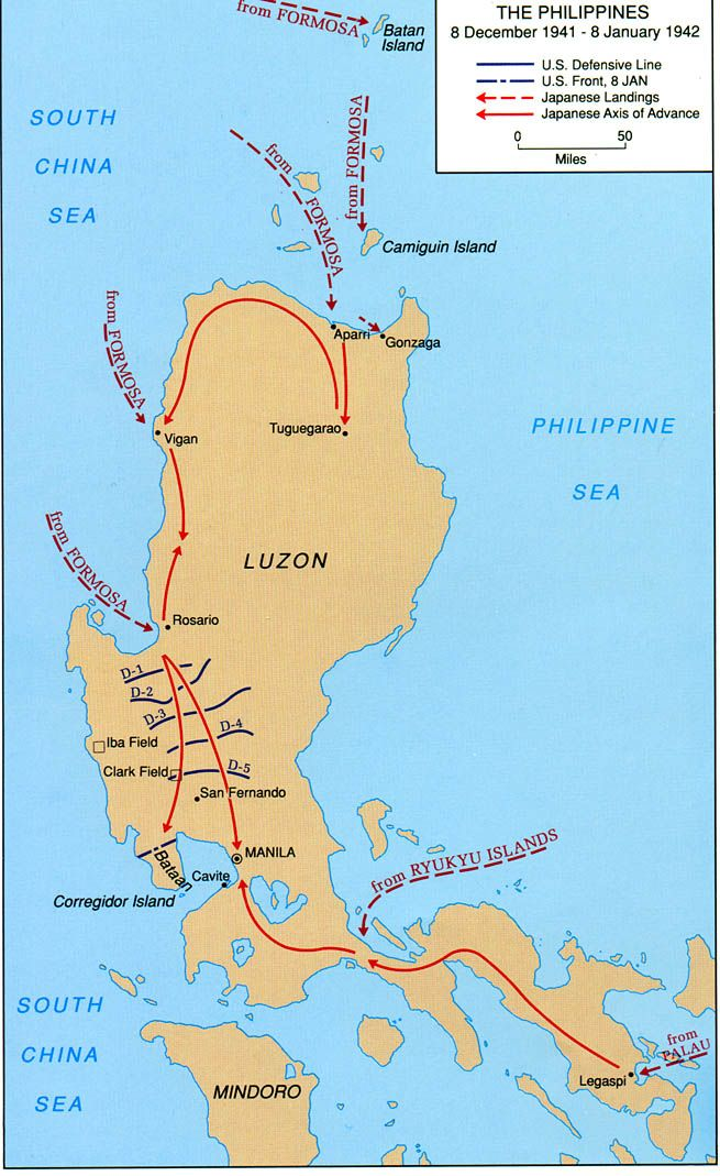 8 December 1941 8 January 1942 Wwii Maps Of The Philippines