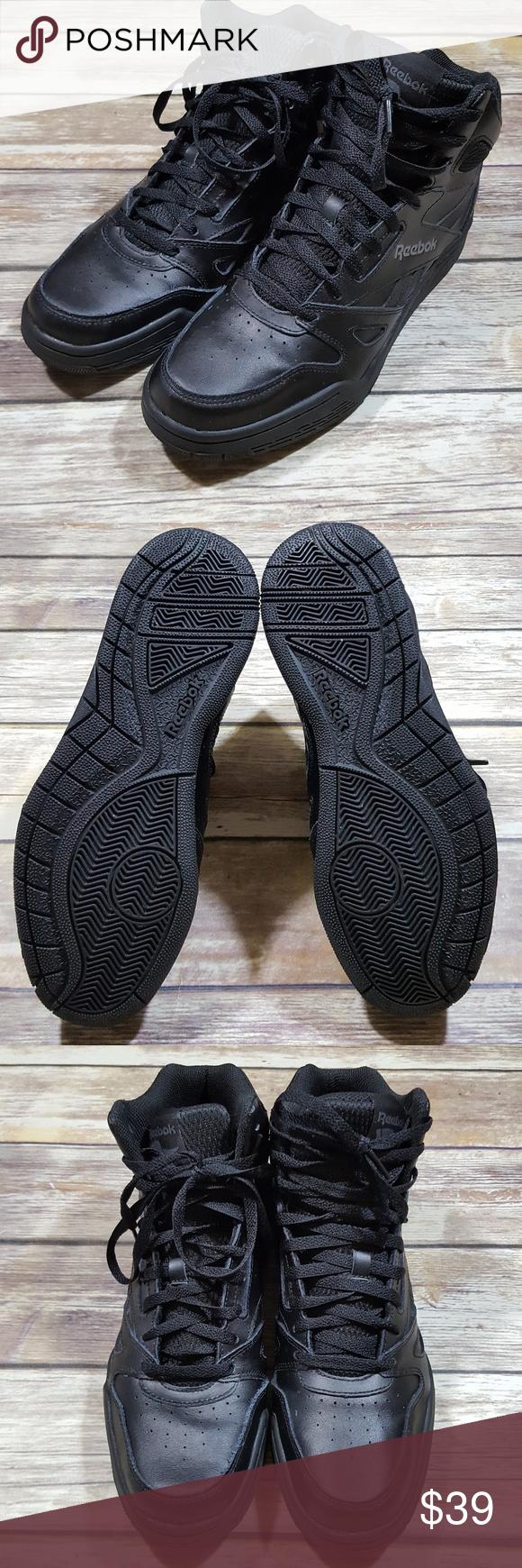 Reebok Men s BB4600 Mid Black Basketball Shoes Reebok Men s Size 10.5M  BB4600 Mid Solid Black 8fb89e0c7