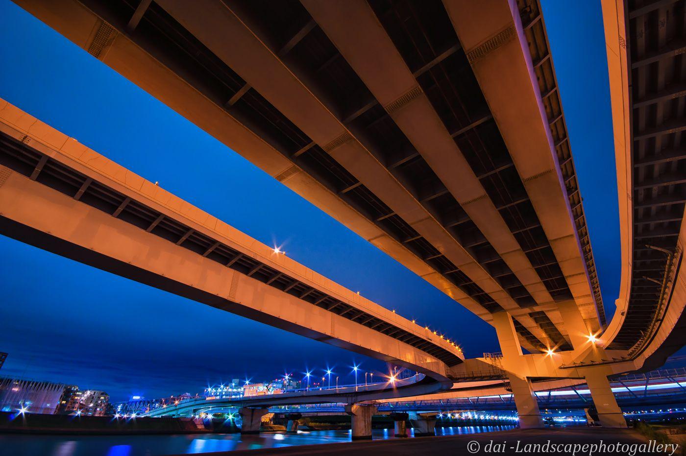 清新町出入口高架下夜景 高架下 夜景 夜景 東京