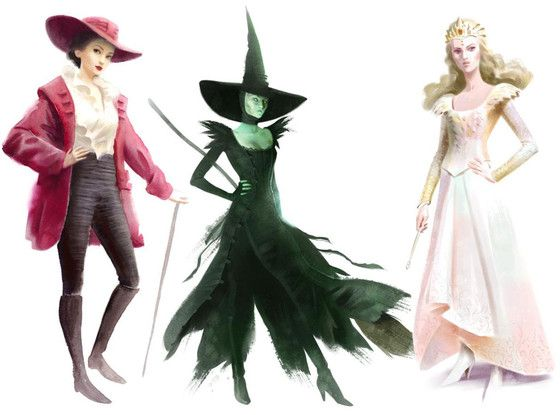 Oz Costume Sketches Revealed | Wicked, Witches and Sketches