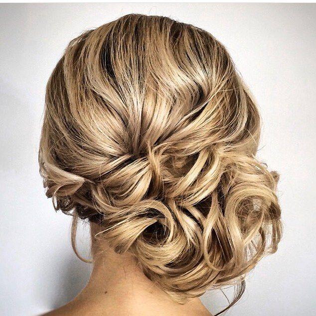 Gorgeous Side Swept Updo Wedding Hairstyle | Swept back ...