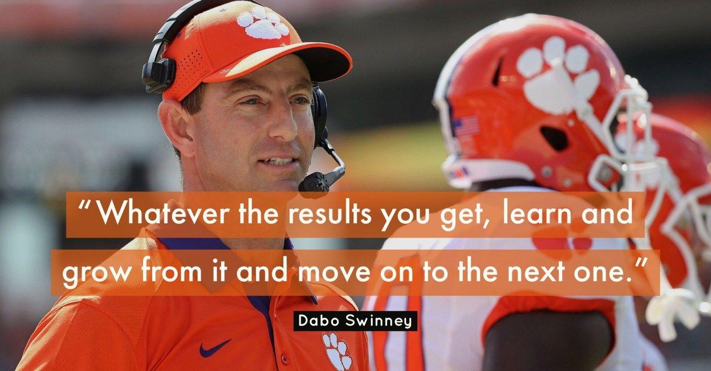 21 Best Dabo Swinney Quotes On Coaching Leadership And Success Leadership Coaching Coach Quotes Leadership