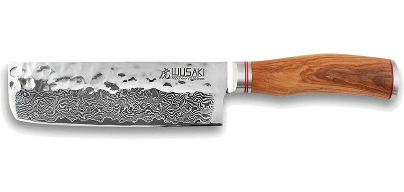 Couteau Japonais Nakiri Wusaki Damas Vg10 17cm Wu8001 Couteaux