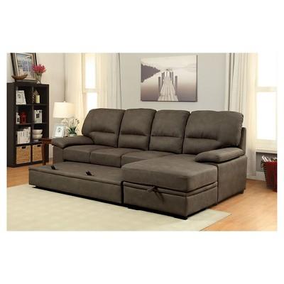 Best Mibasics Samson Modern Style Pullout Sleeper Sofa Brown 400 x 300