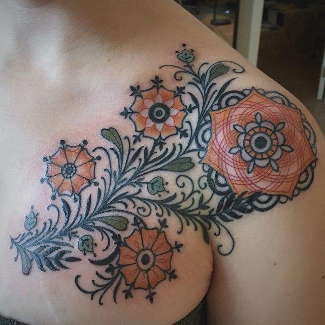 Geometric Tattoos Portland: D'Lacie Jeanne Portland. #floral #geometric #tattoo