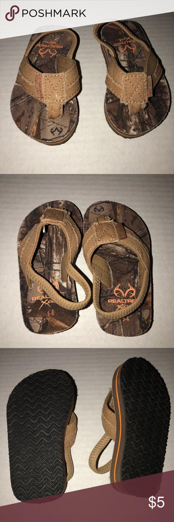 e8967158ef5b8 Real Tree Brown Camo Foam Thong Sandals 5-6