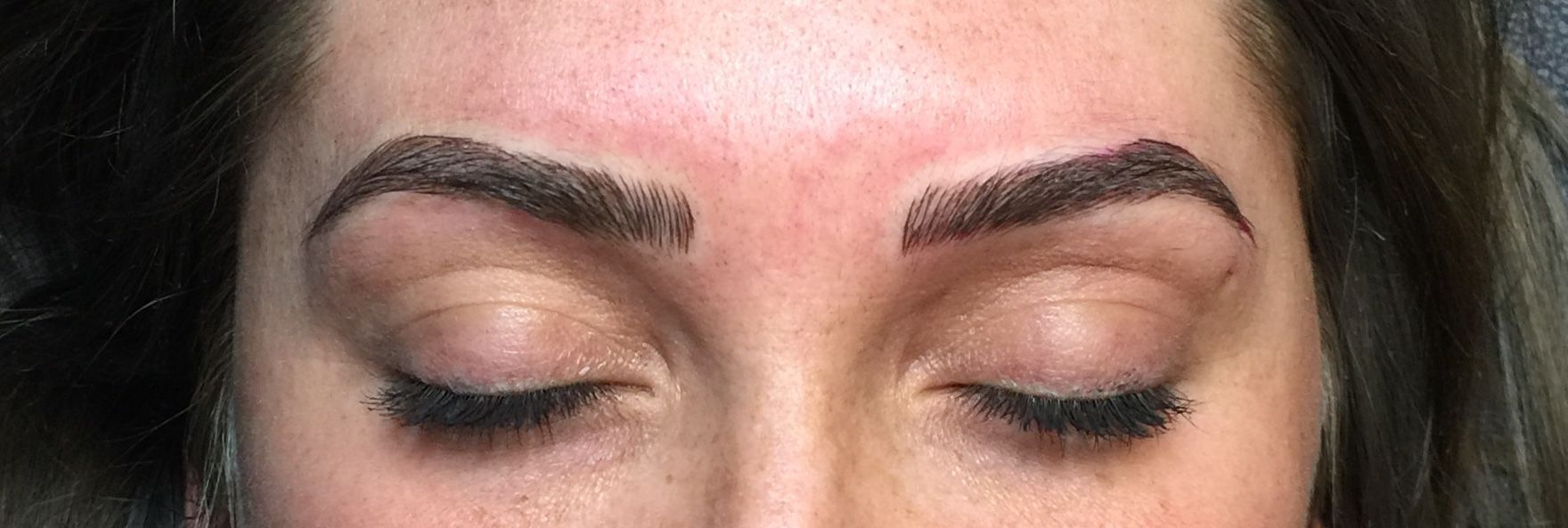Microblading Eyebrow Permanent Makeup Eyebrow Color Correction And
