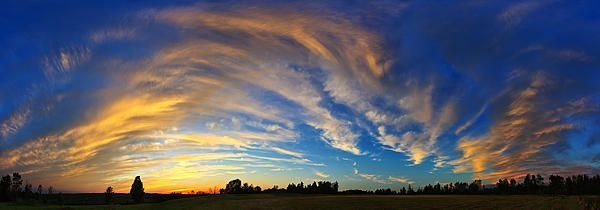 Schoolyard Sunset 1 Panorama by Bill Caldwell -        ABeautifulSky Photography