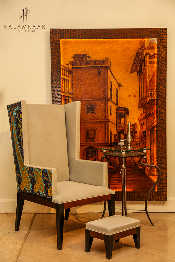 "Wing Chair Furniture Lahore the beautiful "" wing chair "". contact us: +92-321-8453611"