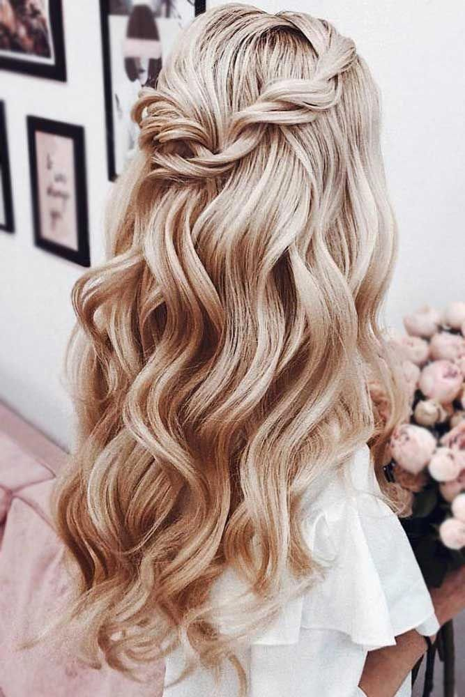 Twisted Blonde Half Up Half Down Prom Hairstyles #halfup ❤ Half up half down prom hairstyles are really trendy this season. Check out our photo gall